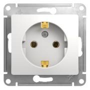 Schneider Electric Glossa с/у с ЗК 1м белая