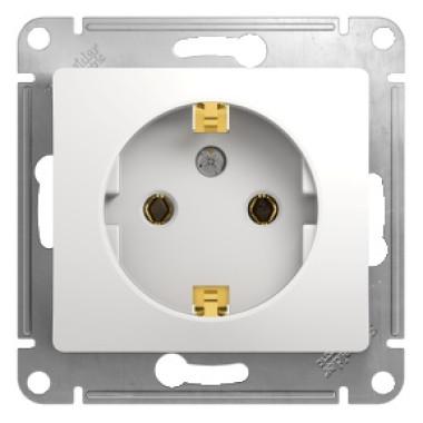 Розетка Schneider Electric Glossa с/у с ЗК 1м белая