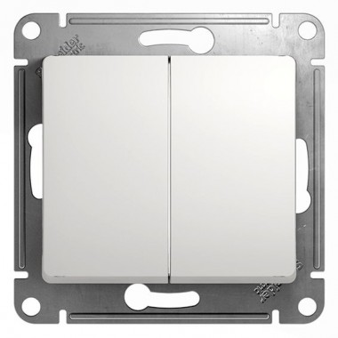 Выключатель Schneider Electric Glossa с/у без индикации 2кл. белый