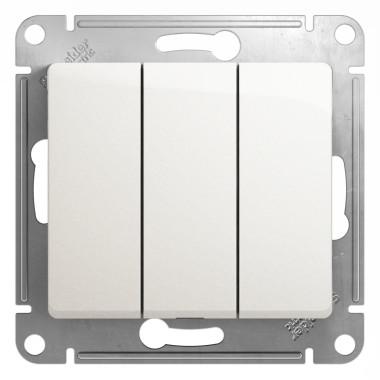 Выключатель Schneider Electric Glossa с/у без индикации 3кл. белый