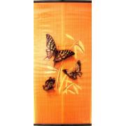 Бархатный сезон Бабочки Желтые на Оранжевом