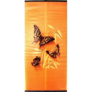 Настенный пленочный обогреватель Бархатный сезон Бабочки Желтые на Оранжевом