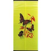 Бархатный сезон Бабочки Красные на Желтом