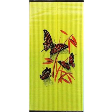 Настенный пленочный обогреватель Бархатный сезон Бабочки Красные на Желтом