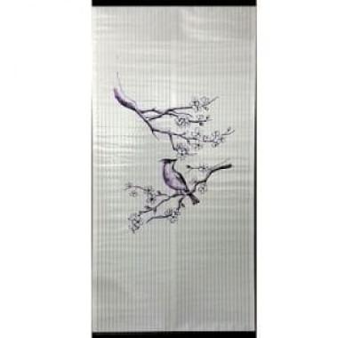 Настенный пленочный обогреватель Бархатный сезон Птичка на ветке Сакуры