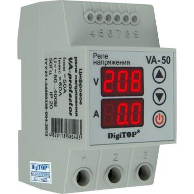 Реле напряжения с контролем по току DigiTOP VA-50A